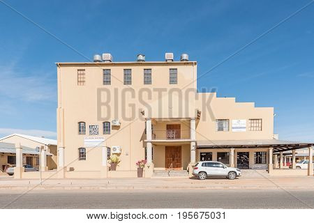 KAKAMAS SOUTH AFRICA - JUNE 12 2017: The historic mill in Kakamas was built in 1914 and has been converted into a shopping centre and home theatre