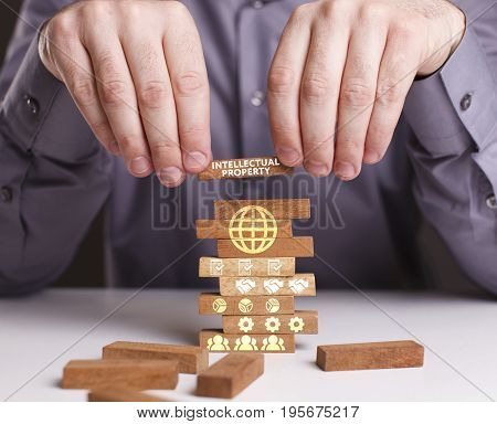 The Concept Of Technology, The Internet And The Network. Businessman Shows A Working Model Of Busine