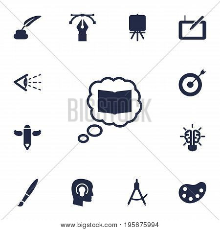 Set Of 13 Creative Icons Set.Collection Of Science, Gadget, Arrow And Other Elements.