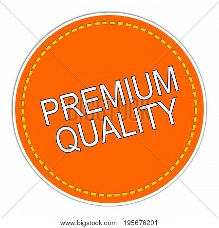 orange Premium Quality sticker on white background  - illustration