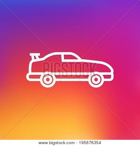 Isolated Cabriolet Outline Symbol On Clean Background. Vector Coupe Element In Trendy Style.