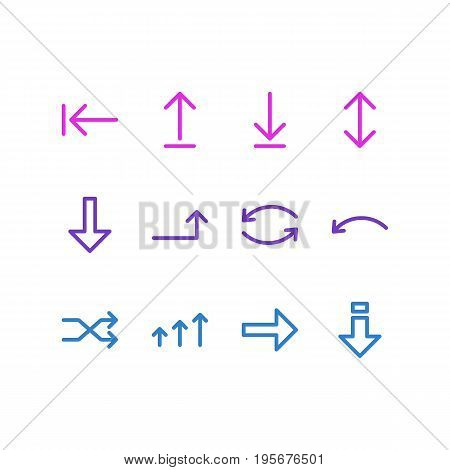 Vector Illustration Of 12 Sign Icons. Editable Pack Of Raise, Tab, Download And Other Elements.