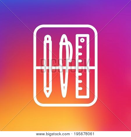 Isolated Case Outline Symbol On Clean Background. Vector Drawing Tools Element In Trendy Style.