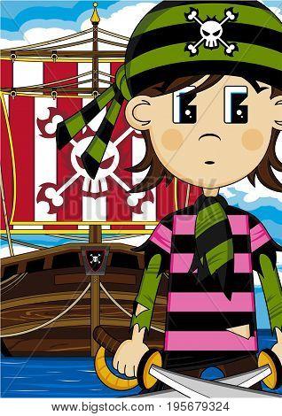 Bandana Pirate And Ship