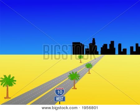 Los Angeles And Interstate 10