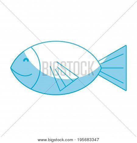 silhouette fresh fish animal to preparation meal vector illustration