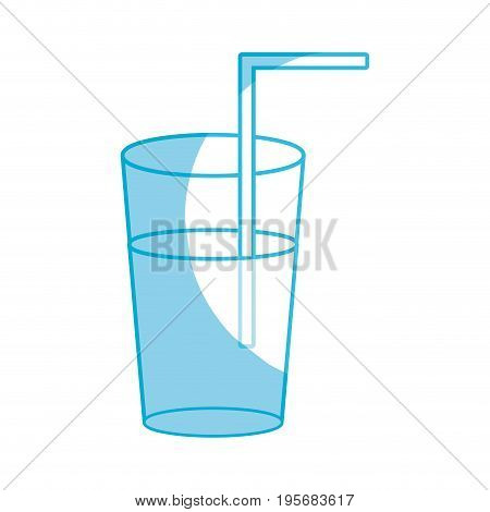 silhouette refreshment in the bottle glass to drink vectorillustration