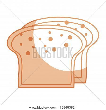 silhouette yummy slices breads to eat food vector illustration