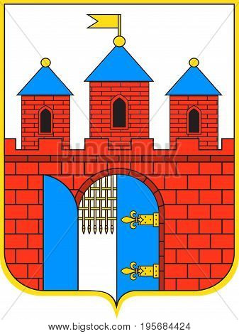 Coat of arms of Bydgoszcz city in Kuyavian-Pomeranian Voivodeship in Poland. Vector illustration