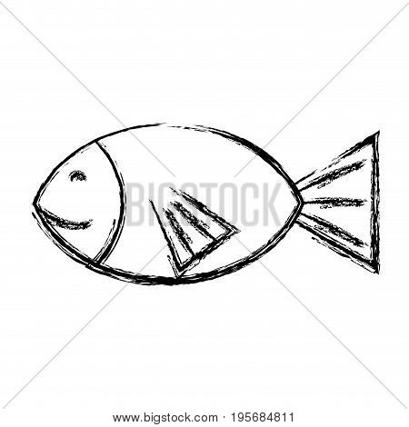 figure fresh fish animal to preparation meal vector illustration