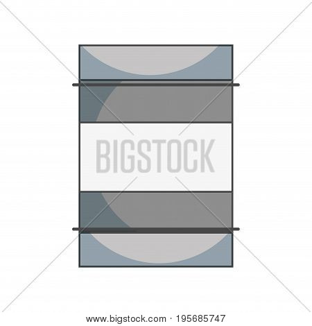 metal tank to conservation and environment care vector illustration