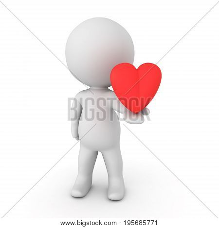 3D Character Offering Love