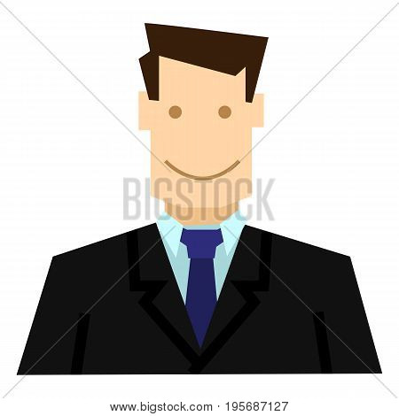 Vector Color Geometrical Icon - Businessman In Suit