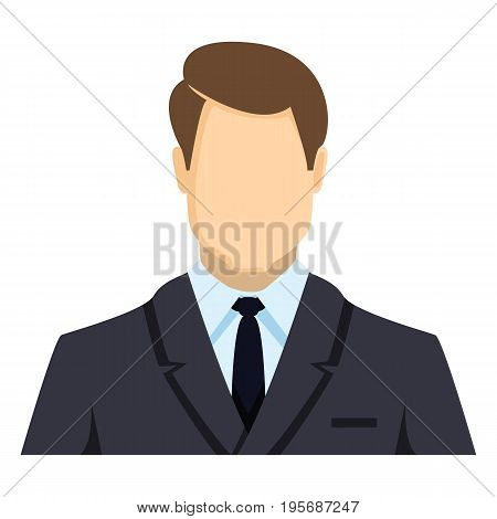 Vector Color Flat Icon - Businessman In Suit