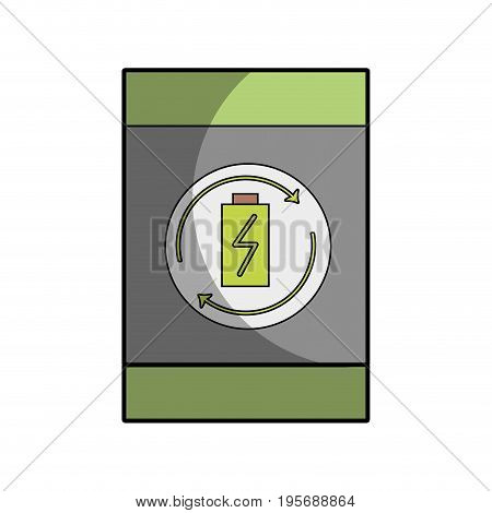 battery tank to conservation and environment care vector illustration