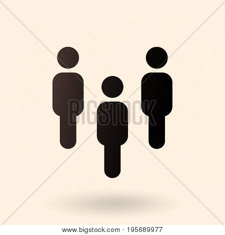 Vector Social Icon - Group Of People