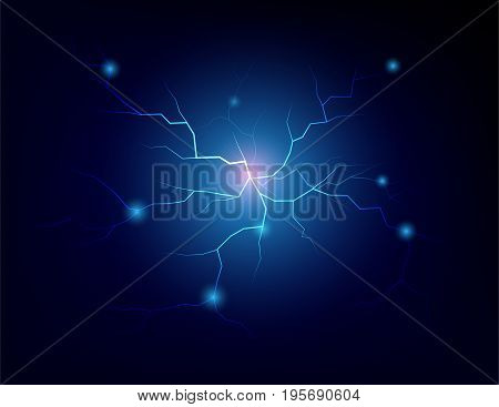 energy electrical blue wave in black background