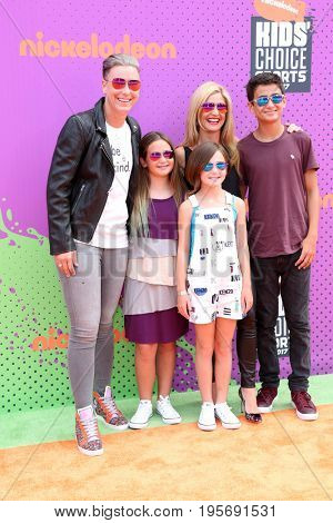 LOS ANGELES - July 13:  Abby Wambach, Glennon Doyle Melton, Guests at the Nickelodeon Kids' Choice Sports Awards 2017 at the Pauley Pavilion on July 13, 2017 in Westwood, CA