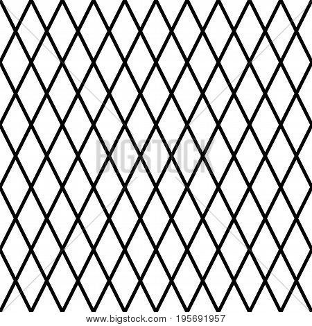 Black and white seamless geometrical texture. Vector background with simple shapes