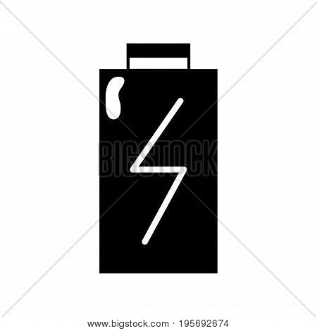 contour battery power electric digital charge vector illustration