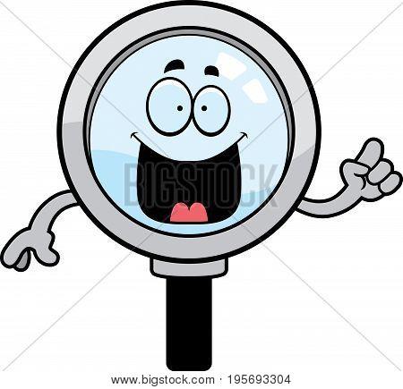 Cartoon Magnifying Glass Idea