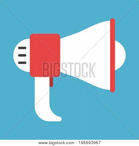 White And Red Megaphone
