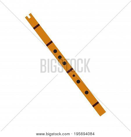 Isolated flute on a white background, Vector illustratioN