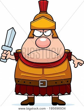Angry Cartoon Roman Centurion