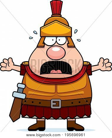 Scared Cartoon Roman Centurion