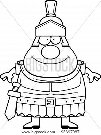 Happy Cartoon Roman Centurion