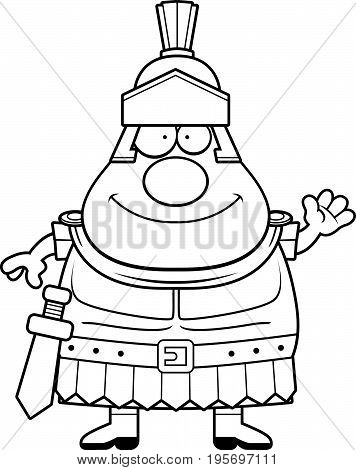 Cartoon Roman Centurion Waving
