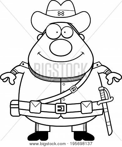 Happy Cartoon Confederate Soldier
