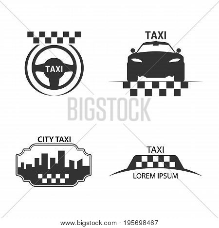 taxi logo car city taxi lables - vector illustration