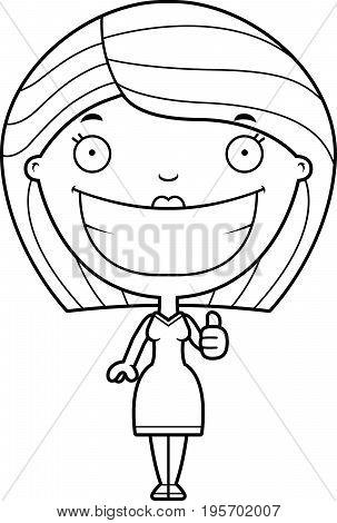 Cartoon Woman Thumbs Up
