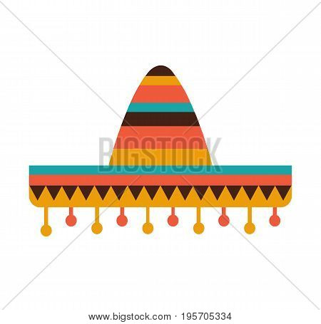 Sombrero / Mexican hat colorful flat icon. Vector stock.