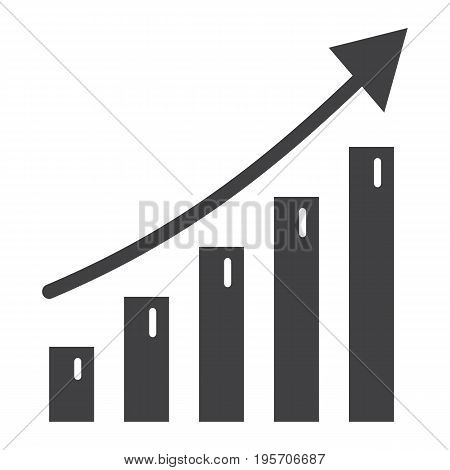 Business growth solid icon, business and financial, vector graphics, a glyph pattern on a white background, eps 10.