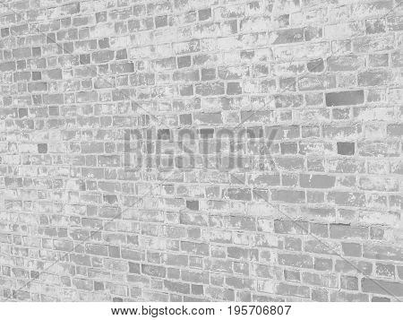 White bleached brick wall texture for your design.