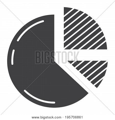 Pie Chart solid icon, business and diagram, vector graphics, a glyph pattern on a white background, eps 10.