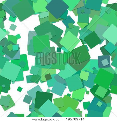 Repeating chaotic square pattern background - vector graphic design from rotated green squares