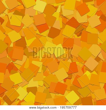 Abstract seamless geometric square background pattern - vector graphic from rotated orange squares with shadow effect
