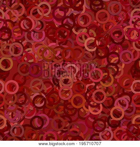 Abstract seamless geometrical circle pattern background - vector graphic design from rings in dark tones
