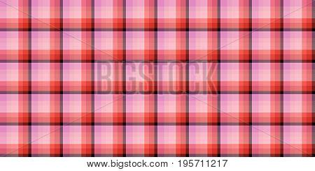 Red Coral Seamless Scottish Tartan Background Texture