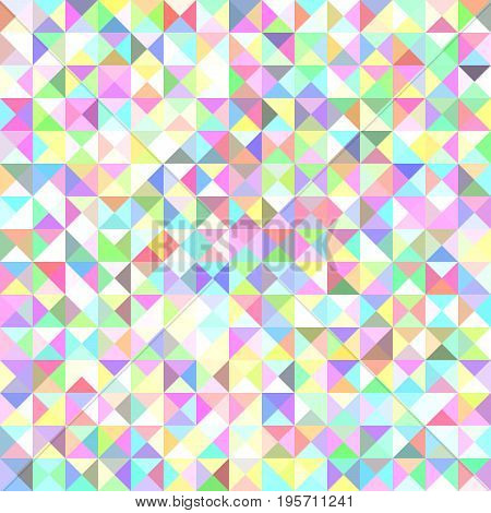 Abstract triangle tile mosaic pattern background - vector graphic from triangles in light volored tones