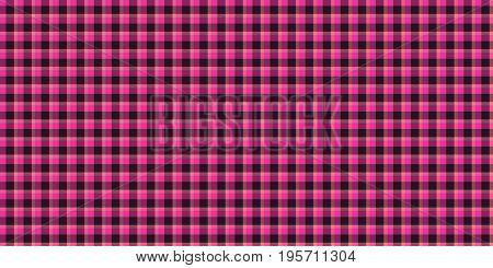 Hot Pink Seamless Scottish Tartan Background Texture