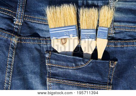 Paintbrush In The Jeans Pocket