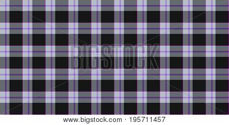 Light Lilac Black Seamless Scottish Tartan Background Texture