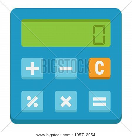 Calculate flat icon, business and calculator, vector graphics, a colorful solid pattern on a white background, eps 10.