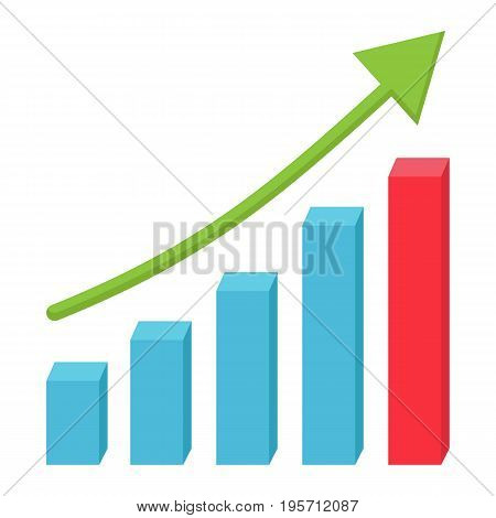 Business growth flat icon, business and financial, vector graphics, a colorful solid pattern on a white background, eps 10.