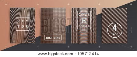 Covers design. Minimal Vector. Abstract lines. Luxury edition. Future geometric template.