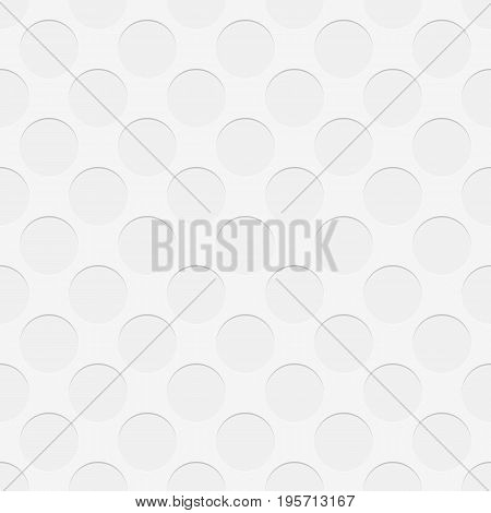 Seamless perforated circle pattern texture background - 3d geometric vector illustration with shadow effect